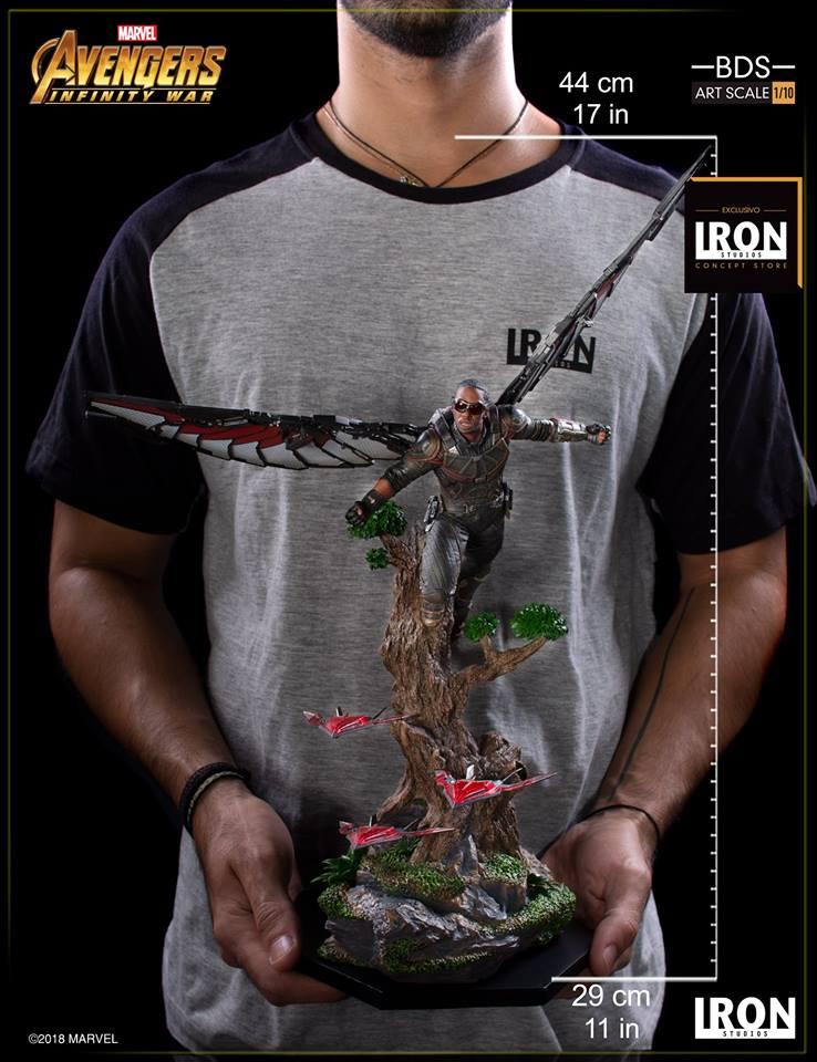 Iron Studios - Falcon BDS Art Scale 1-10 - Avengers Infinity War (8)