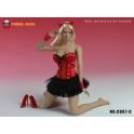 SUPER DUCK 1/6 C007- C Sexy Basque corset Dress - Red