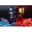 Hot Toys – COSB199-200 – Captain America Civil War - Captain America & Iron Man Mark XLVI Cosbaby (S) Bobble-Head