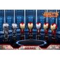 Hot Toys – COSB261-267 – Iron Man 3 - Iron Man Mark I – VII Cosbaby Bobble-Head Series
