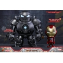 Hot Toys - COSB269 - Iron Man - Iron Man Mark III (Battle Damaged Version) & Iron Monger Cosbaby Set