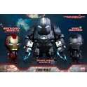 Hot Toys - COSB270 - Iron Man 2 - Iron Man Mark VI (Battle Damaged Version), War Machine & Whiplash Mark II Cosbaby