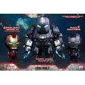 Hot Toys - COSB270 - Iron Man 2 - Iron Man Mark VI (Battle Damaged Version), War Machine & Whiplash Mark II Cosbaby