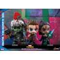 Hot Toys - COSB381 -  Thor, Gladiator Hulk, Valkyrie Cosbaby (S) Bobble-Head Collectible Set