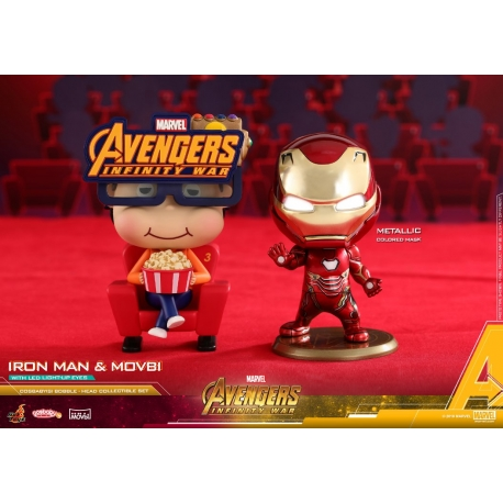[Pre-Order] Hot Toys - COSB467 - Avengers: Infinity War - Cosbaby (S) Bobble-Head - Doctor Strange & Wong Collectible Set
