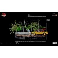 Iron Studios - T-Rex Attack BDS Art Scale 1/10 - Jurassic Park (SET B)