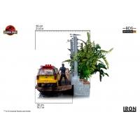 Iron Studios - T-Rex Attack BDS Art Scale 1/10 - Jurassic Park (SET A+B)