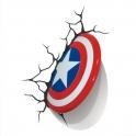 3D Light FX -Captain America Shield 3D Deco Light