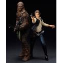 Kotobukiya - ARTFX+ - Star Wars - Han Solo & Chewbacca