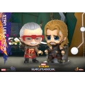 Hot Toys - COSB738 - Thor: Ragnarok - Stan Lee & Thor Cosbaby (S) Bobble-Head Collectible Set