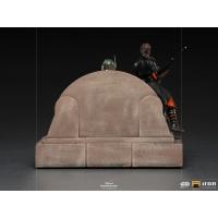 [Pre-Order] Iron Studios - Boba Fett on Throne Deluxe Art Scale 1/10 - The Mandalorian
